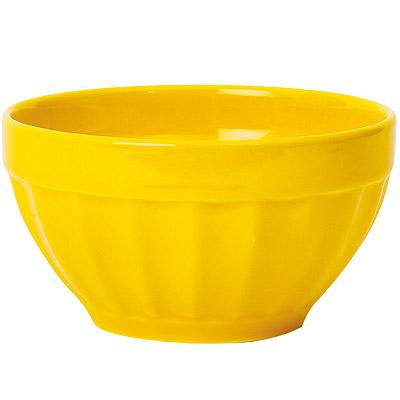 EXCELSA Fashion直紋陶餐碗(黃14cm)