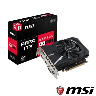MSI微星 Radeon RX 550 AERO 2G OC 顯示卡