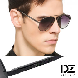 DZ 經典名仕 抗UV 偏光太陽眼鏡墨鏡(黑框漸層灰片)