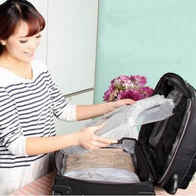 iSFun 手捲真空 透視旅行居家壓縮收納袋多尺寸2入70x45cm