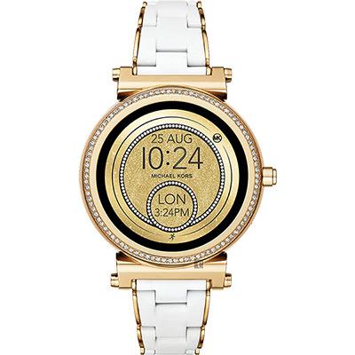 Michael Kors Access 觸控智能手錶-金x白/42mm