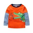 歐美風 大嘴鱷魚 男童純棉長袖T恤