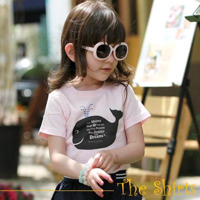 【The Shirts】可愛大鯨魚短袖T恤 (共二色)