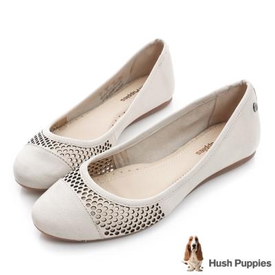 Hush Puppies LIZA 內增高都會平底鞋-米白