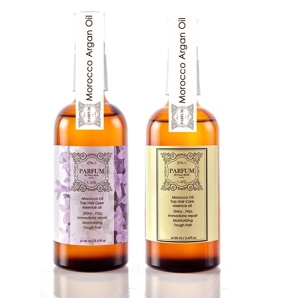 Parfum 帕芬名牌香水摩洛哥護髮油100ml-白麝香+紅玫瑰淡香