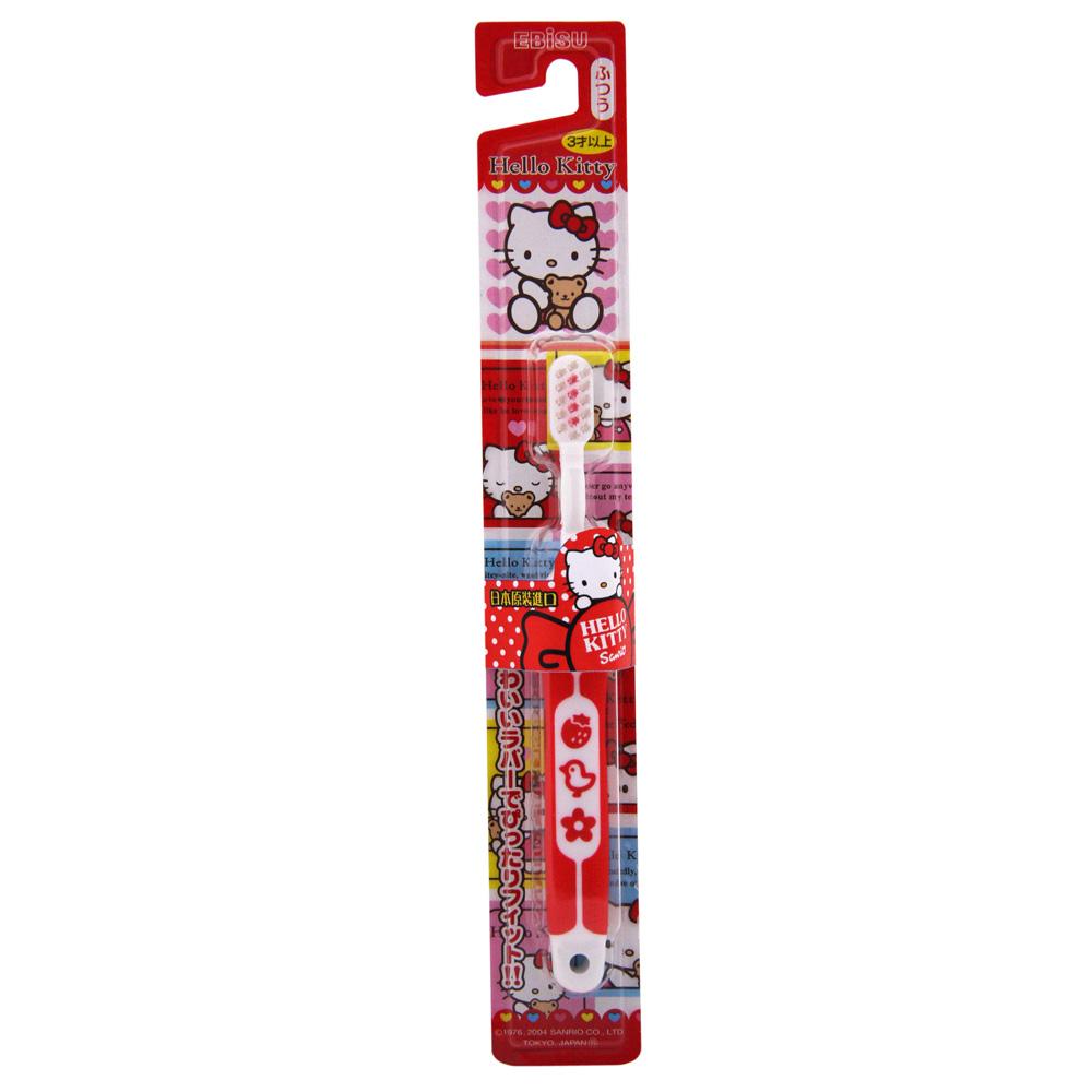 日本EBISU-Hello Kitty軟柄兒童牙刷 B-S741-顏色隨機