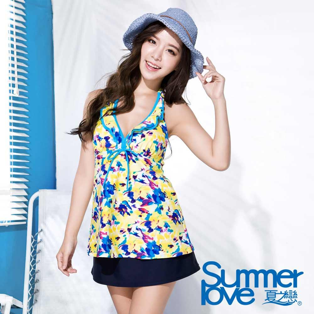 夏之戀SUMMERLOVE 向陽風情長版三件式泳衣