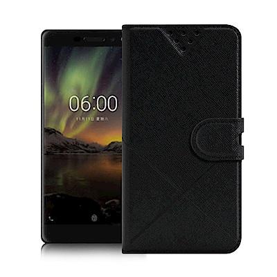iRis for Nokia 6 (2018) 風格磨砂側翻支架皮套