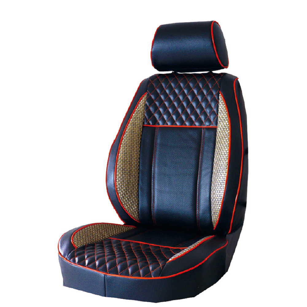 【葵花】量身訂做-汽車椅套-日式合成皮-展翅配色-B款-雙前座