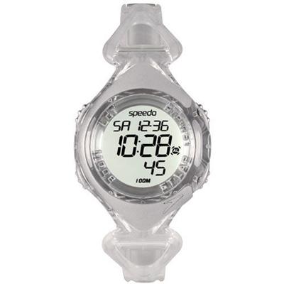 Speedo 奔躍世界電子腕錶-透明/40mm