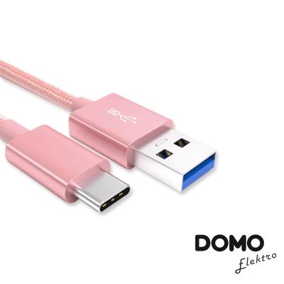 DOMO TYPE C充電傳輸線2.0-1m(玫瑰金)