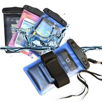 適用6吋以下智慧手機防水保護袋(內附臂帶/頸繩)