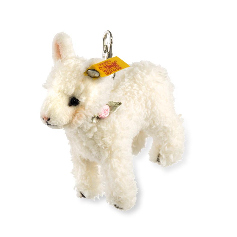 STEIFF德國金耳釦泰迪熊Keyring Lamb綿羊經典吊飾