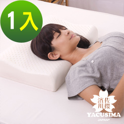日本濱川佐櫻-簡約時尚 A級工學型天然Q彈乳膠枕-1入