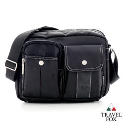 Travel Fox旅狐包 極限 輕量多功能雙層多口袋隨身B5包 - 格紋黑