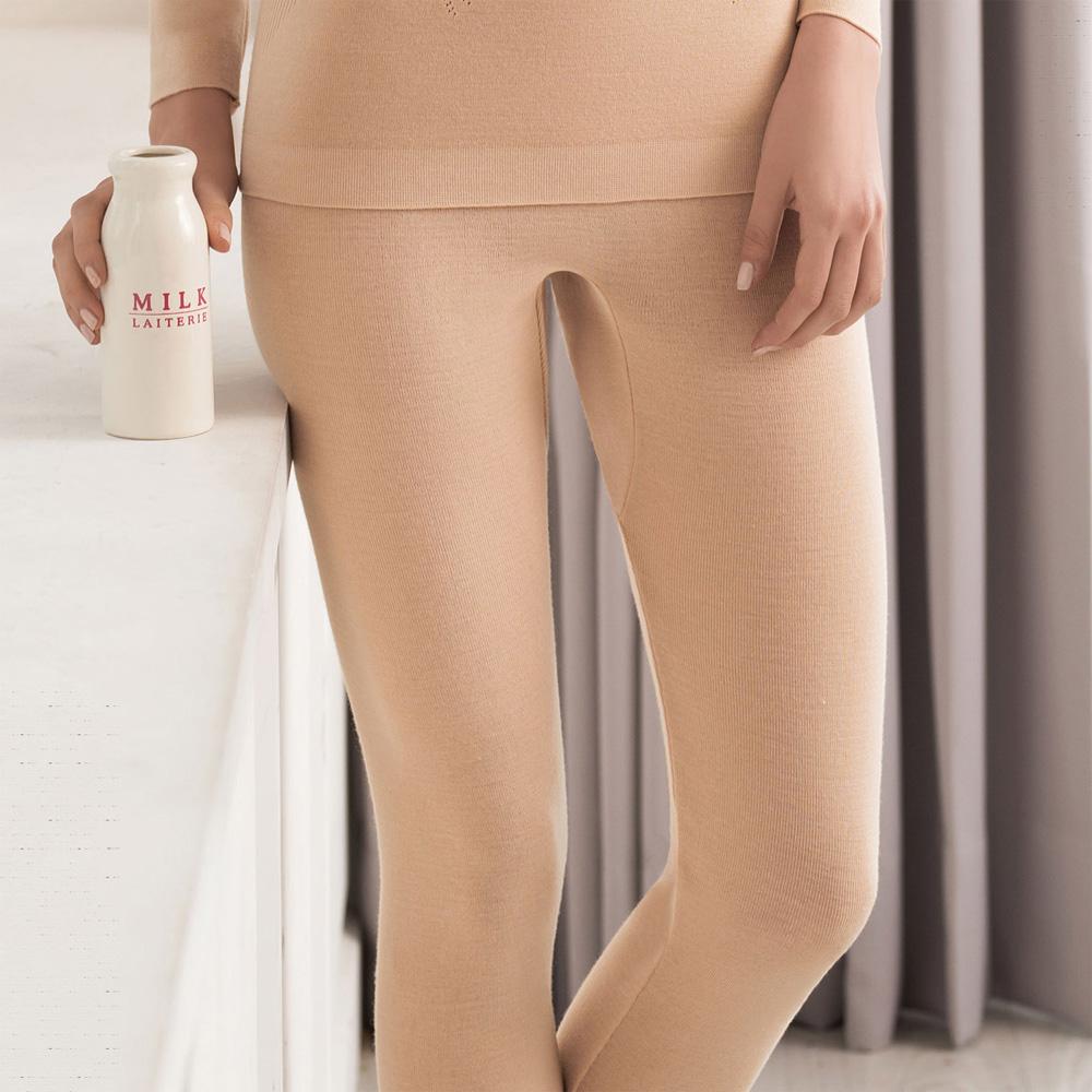 華歌爾100%防縮羊毛 M-LL 保暖褲(經典膚)-舒適-保暖