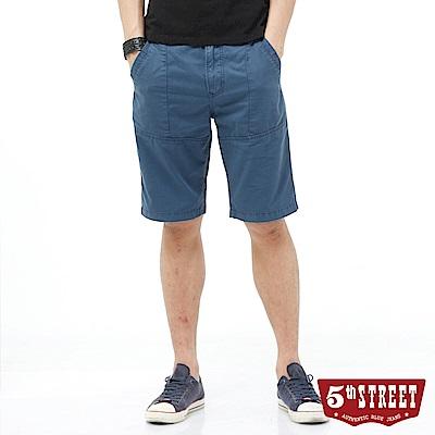 5th STREET 街霸休閒短褲-男-灰藍
