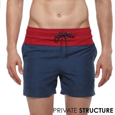 P.S 時尚玩色抽繩海灘健身兩用短褲(海藍),Private Structure