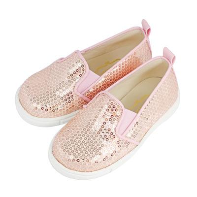 Swan天鵝童鞋-亮片懶人休閒鞋 3774-粉
