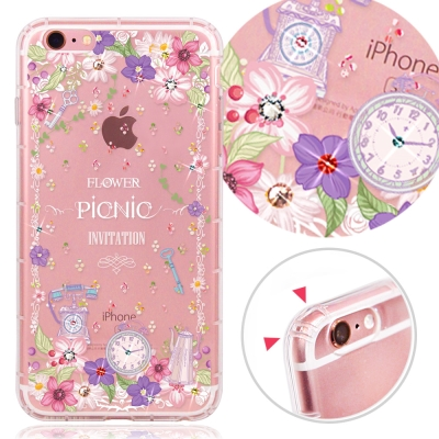YOURS APPLE IPhone 6s Plus奧地利水晶彩繪防摔氣墊手機鑽殼-野之宴