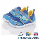 三麗鷗THE RUNABOUTS 輕量透氣抗菌減壓休閒童鞋 寶藍