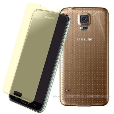 Yourvision Samsung S5 晶磨抗刮(亮)螢幕貼+抗污機身背膜+側邊條