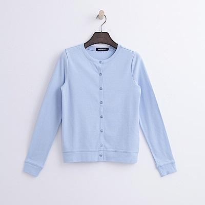 Hang Ten - 女裝 - 圓領開襟外套-藍色