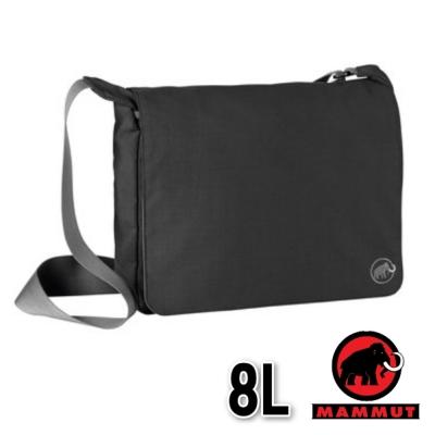 【MAMMUT 長毛象】新款 Shoulder Bag 抗撕裂大掀蓋側背包 8L/黑