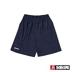 SASAKI 長效性吸濕排汗專業足球短褲-男-丈青/白