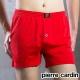 Pierre Cardin皮爾卡登 吸濕排汗針織開襟平口褲 四角褲-單件(紅)