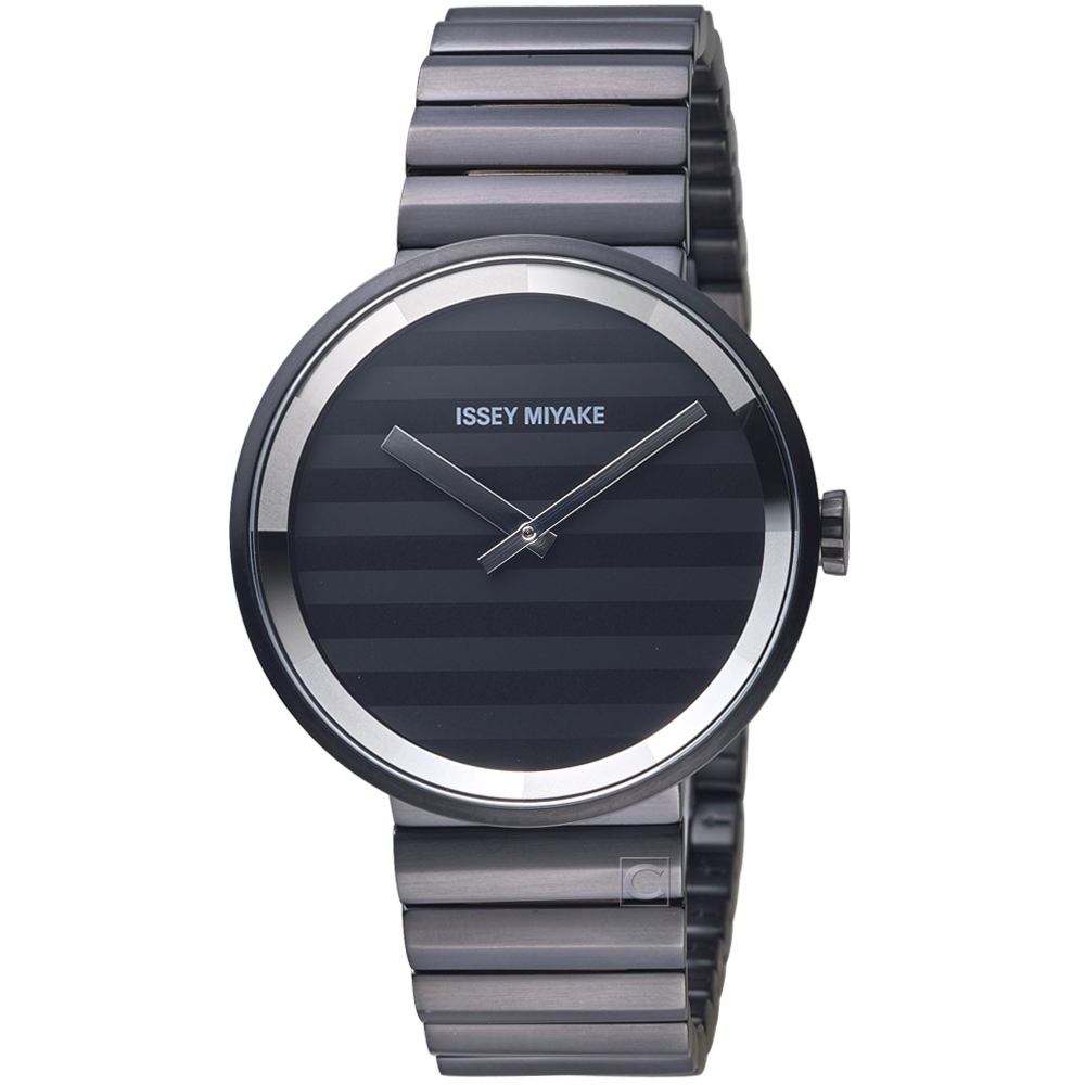ISSEY MIYAKE三宅一生PLEASE系列波紋概念腕錶( VJ20-0110SD)