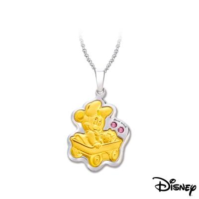 Disney迪士尼金飾 扮家家美妮黃金/白鋼項鍊