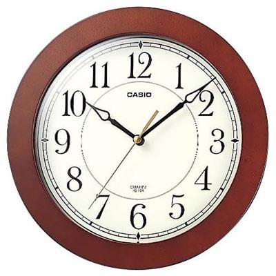 CASIO 清晰簡單靜音木紋掛鐘