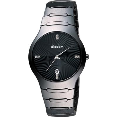 Diadem 黛亞登 嶄時系列晶鑽陶瓷腕錶-黑/36mm