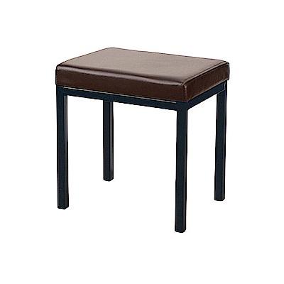 AS-Augus咖啡色四方鐵椅-40x30x42c