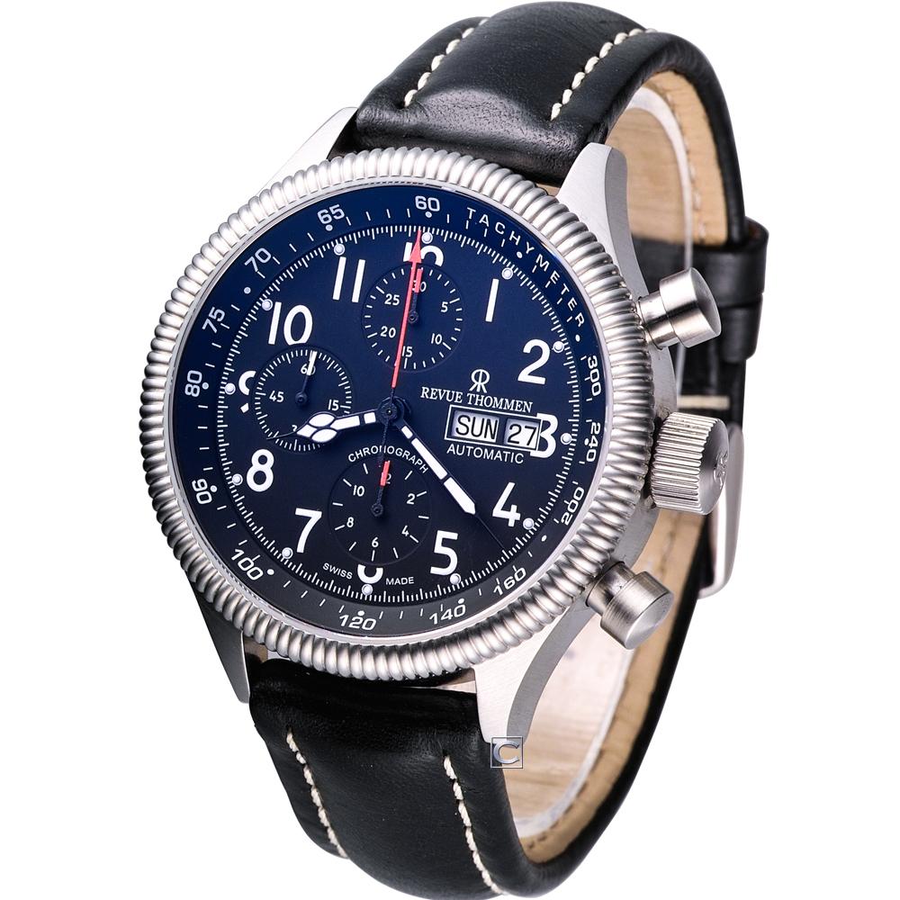 Revue  Thommen  領航者計時機械腕錶-44mm
