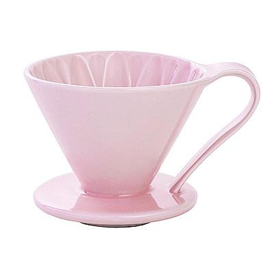 日本三洋CAFEC CFD-4葵花陶瓷咖啡濾器(大)附量匙-四色