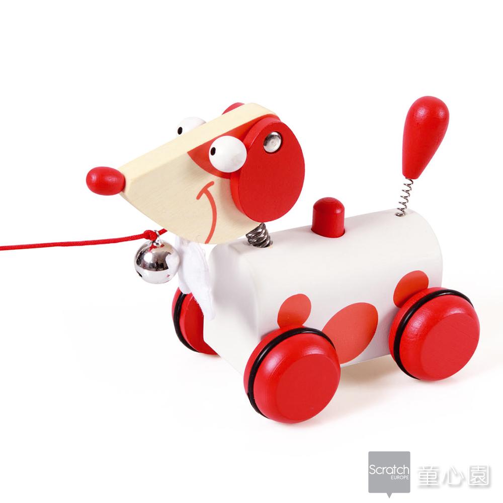 SCRATCH 小狗拉拉車-紅(18M+)
