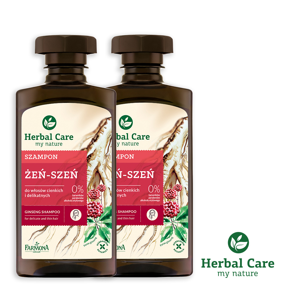 波蘭Herbal Care人蔘固髮植萃調理洗髮露(脆弱髮質適用)330ml(2瓶優惠組)