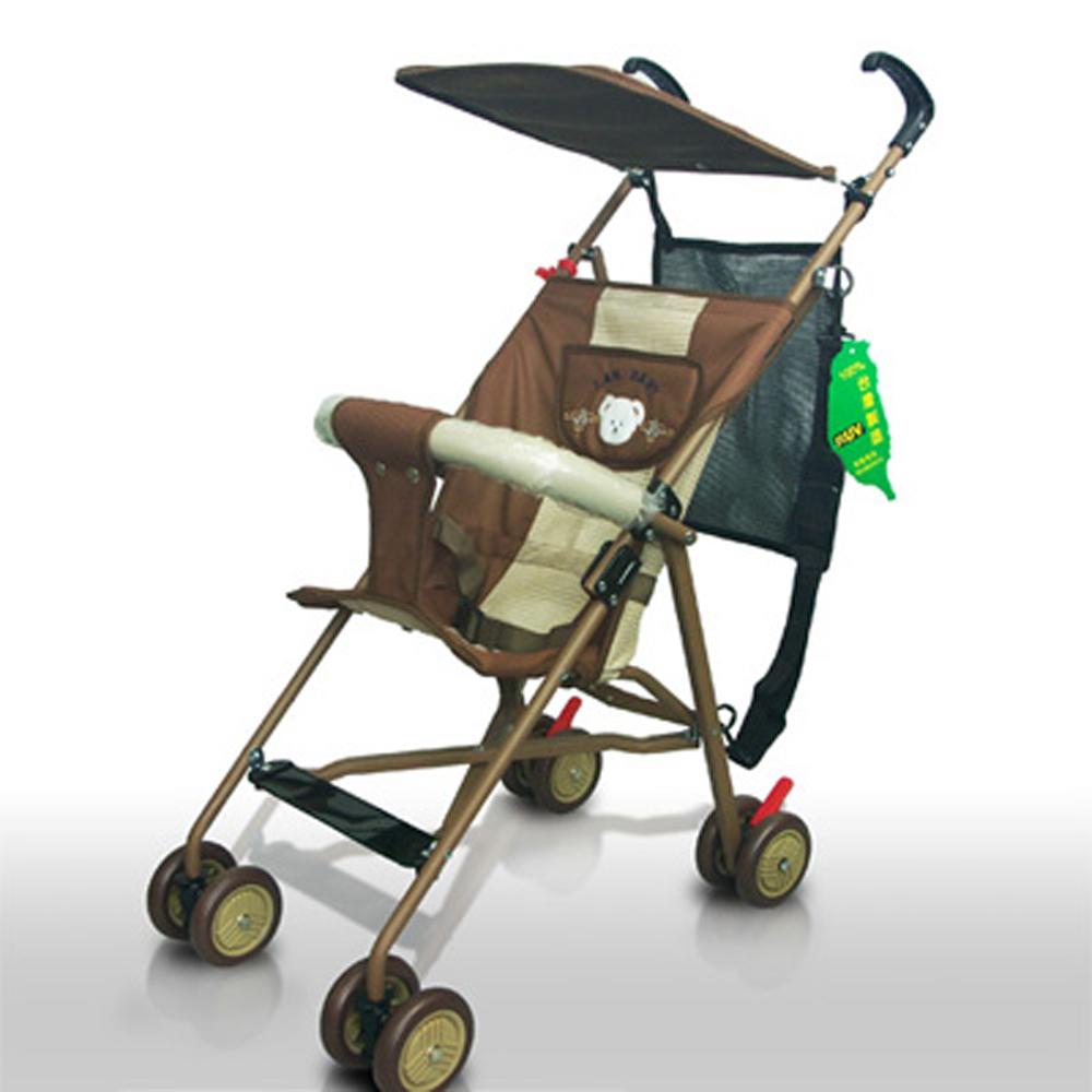 IAN BABY 166F3抗UV日式輕便嬰兒推車(咖啡)/台灣製