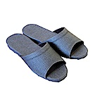 HOME WORKING 新‧日式皮革拖鞋-藍灰色