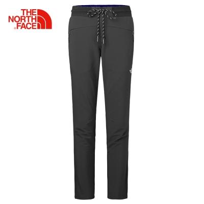 The North Face北面女款黑色舒適防潑水戶外休閒長褲