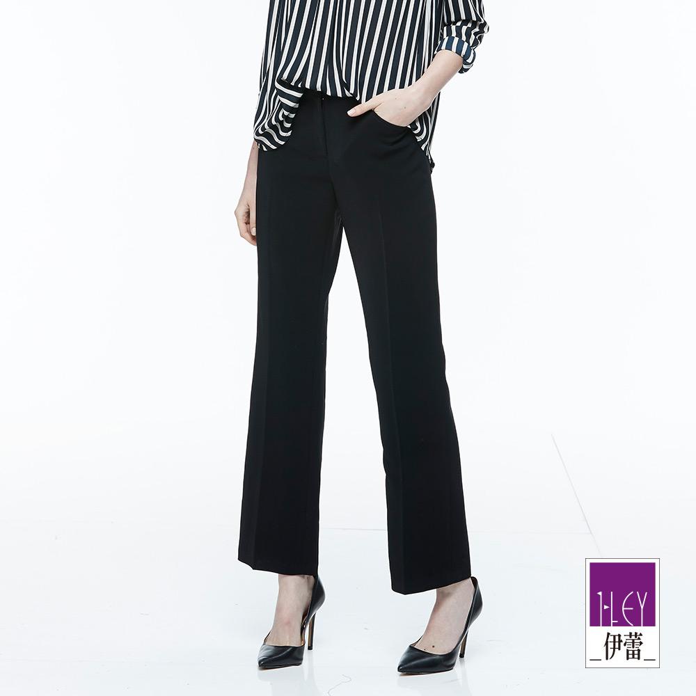 ILEY伊蕾 都會簡約直筒西裝褲體驗價商品(黑)