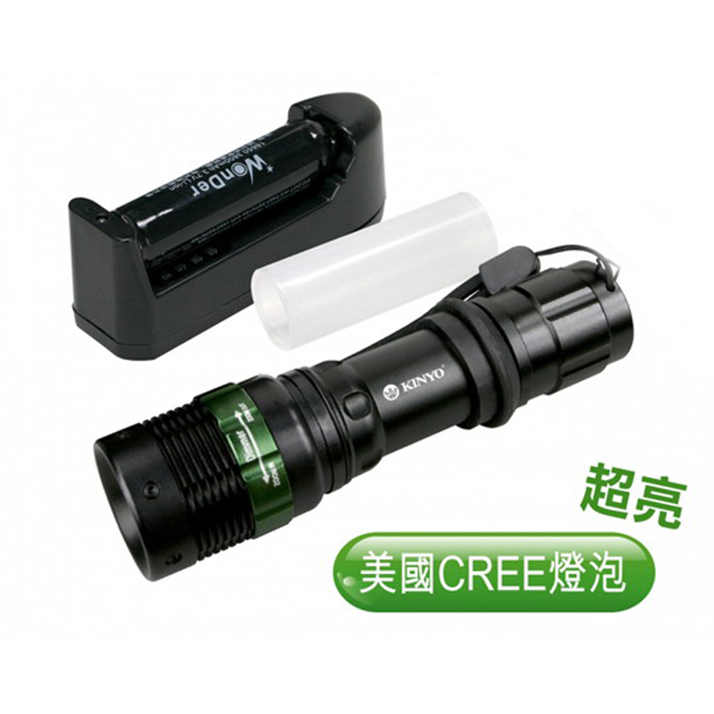 KINYO 180流明鋁合金LED手電筒(LED-612)