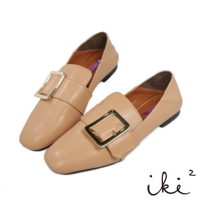 iki2-中性紳士平底踩腳鞋-膚