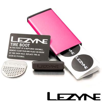 LEZYNE METAL KIT彩色鋁盒補胎片組 (紅)