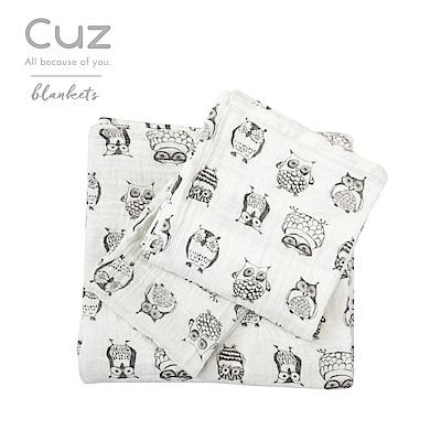 Cuz-貓頭鷹木頭人(紗布巾)30cm-2入