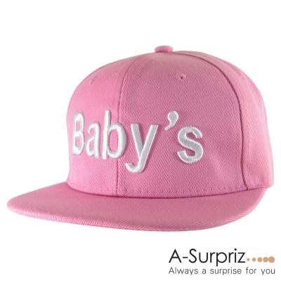 A-Surpriz 運動休閒字母Babys棒球帽(柔美粉)
