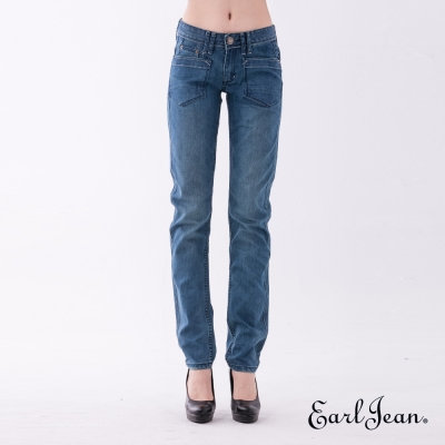 Earl Jean 201 Eve低腰合身窄管褲-中藍-女