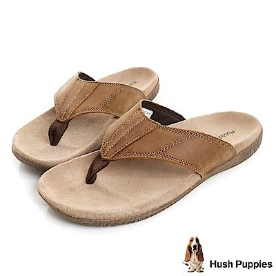 Hush Puppies MUTT 舒適夾腳拖鞋-咖啡色